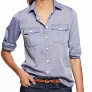 J.Crew Factory End on End Camp Shirt-Perfect Fit